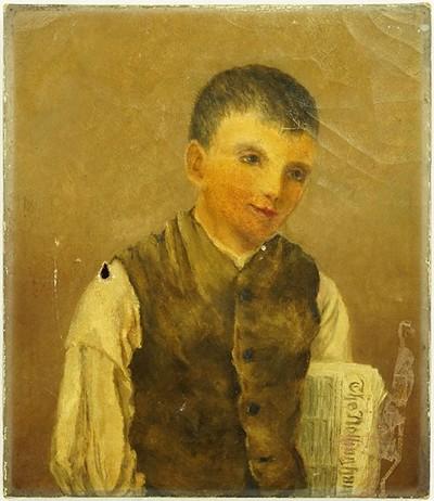 Artist Unknown - The Newspaper Salesman-
