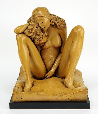 J. Leach-Seated Nude-1980