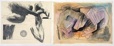 David Sharpe-Two Drawings: 'Arms and Legs', 'Abstraction'-