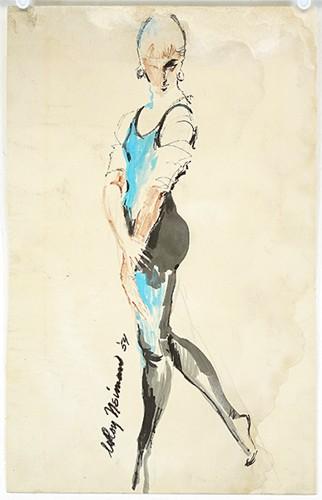 LeRoy Neiman-Leroy Neiman - Standing Girl-1954