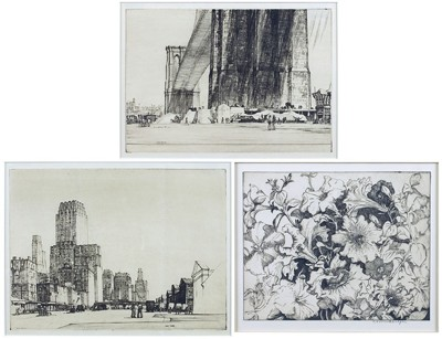 Frances Farrand Dodge-Petunias; Brooklyn Bridge; West Street-1932