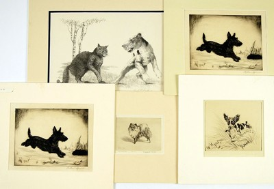 A Collection of Five 20th Century Prints of Dogs-