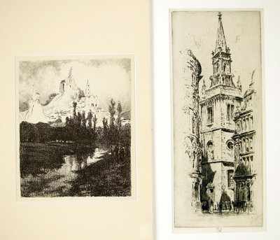 Joseph Pennell-Church Spire, London-