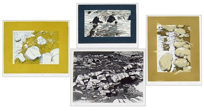 Carl E. Schwartz-Four Aquatints-