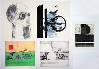 Dennis Loy-A Collection Of Prints And Drawings: Canon #4; Head; Abstraction-