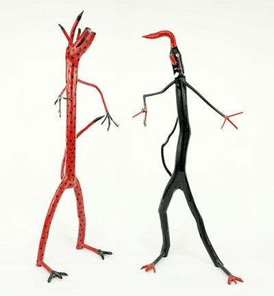 Calvin Cooper-Two Folk Art Figures-1991