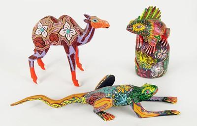 Three Mexican Folk Art Figures-