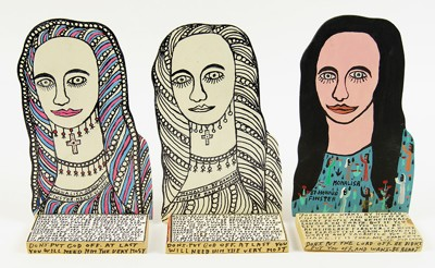 Howard Finster-Three Mona Lisas-1989