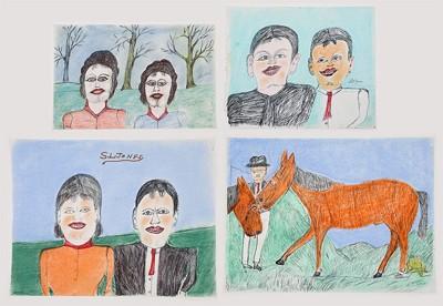 Shields Landon Jones - Man With Horses-