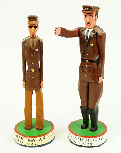 Two Folk Art Military Figures-