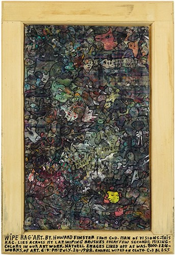 Howard Finster-Wipe Rag Art-1988