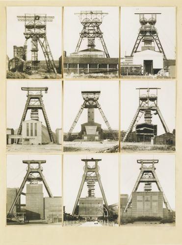 Bernd and Hilla Becher-Forderturme (Winding Towers)-1973