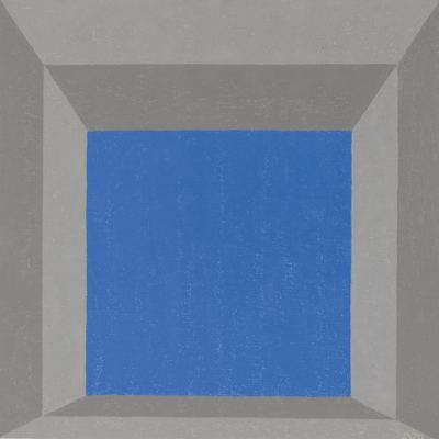 Josef Albers-Study For Hommage To The Square: Framed Sky 'C'-1970
