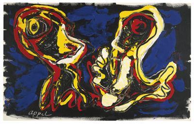 Karel Appel-Two Dancers-1989
