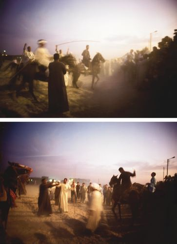 Nan Goldin-(I) Jabalowe On Roma At Horse Show At Dusk, Luxor (II) Jabalowe On Roma At Horse Show, Luxor-2003