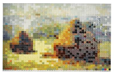 Vik Muniz-Haystack After Monet #2 (From Pictures Of Color)-2001