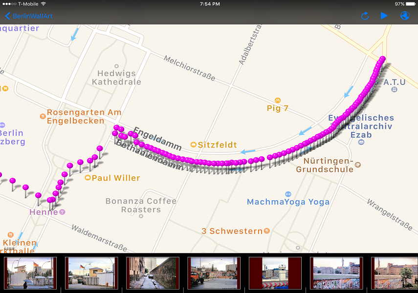 "Route IV ""Bethanianiendamm"" in berlin"