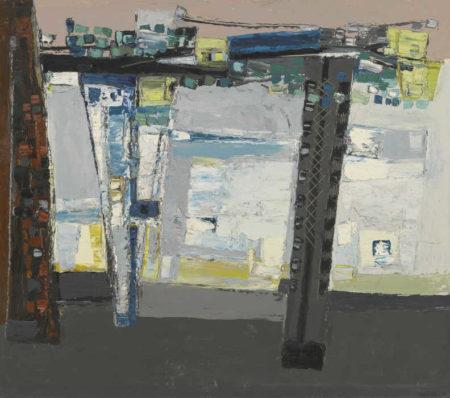 Paul Feiler-Balcony Blue And Lemon-1953