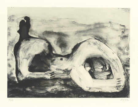 Henry Moore-Reclining Figure Cave (C. 542)-1979