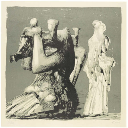 Henry Moore-Mother And Child With Light Background (C. 435)-1976