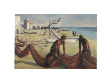 Michael Ayrton-Ischia, Mending Nets, Version II-1948