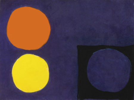 Patrick Heron-Violet Painting With Orange, Lemon And Black: April - May-1964
