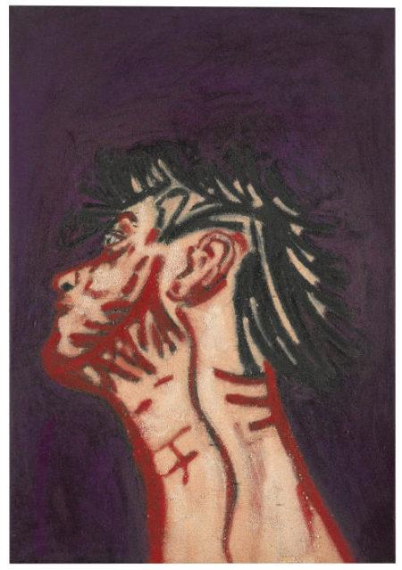 Tony Bevan-Self Portrait Neck-1988