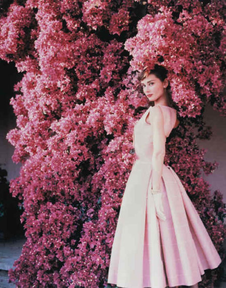 Norman Parkinson-Audrey Hepburn With Flowers, Vogue-1955
