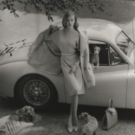 Norman Parkinson-Nena Von Schlebrugge With Dogs, Vogue-1958