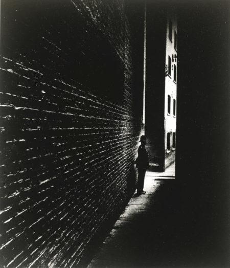Bill Brandt-Bermondsey Policeman; Alley Off East India Dock Road, London-1939