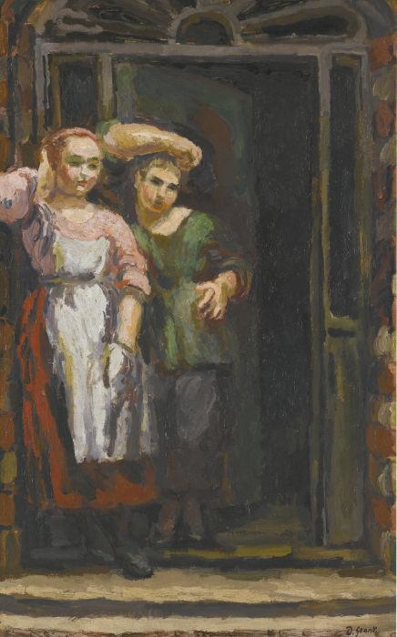 Duncan Grant-Two Girls In A Doorway-1926
