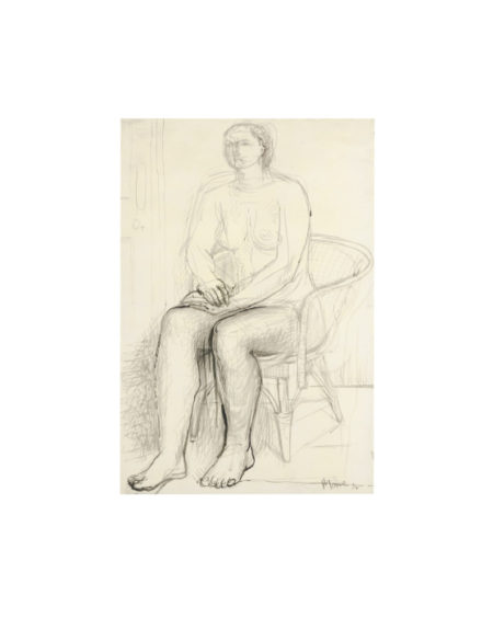 Henry Moore-Seated Nude In A Wicker Chair-1934