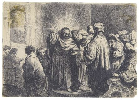 Rembrandt van Rijn-The Tribute Money (B., Holl. 68; New Holl. 138; H. 124)-1635