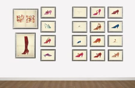 Andy Warhol-A La Recherche Du Shoe Perdu; And Shoe And Leg (F. & S. Iv.69B - 85); Shoe and Leg-1955