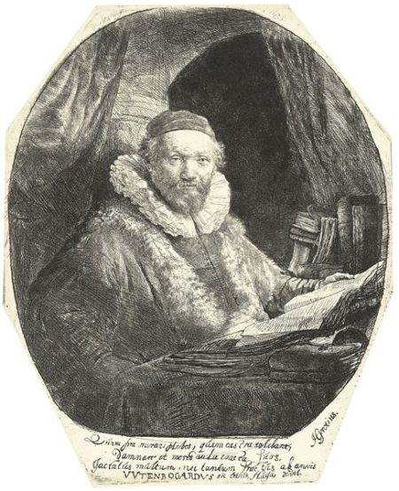Rembrandt van Rijn-Jan Uytenbogaert, Preacher Of The Remonstrants (B., Holl. 279; New Holl. 153; H. 128)-1635