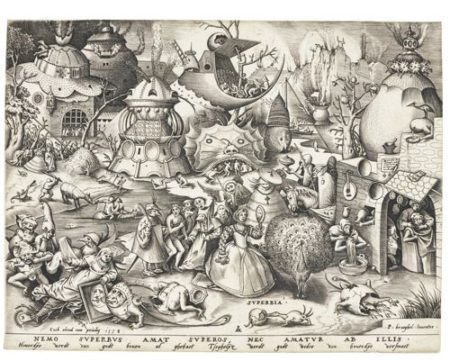 Pieter Bruegel the Elder-After Pieter Bruegel the Elder - The Seven Deadly Sins (Bast., Holl. 125-131; New Holl. 21-27; L. 18-24)-1558