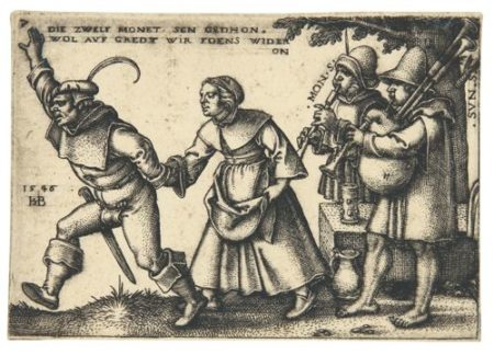 Hans Sebald Beham-The Peasants' Feast Or The Twelve Months (Bartsch, Hollstein 154-163; Pauli 177-186)-1547