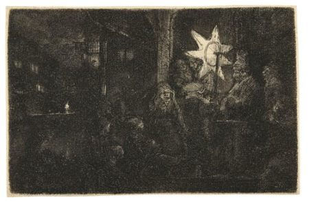 Rembrandt van Rijn-The Star Of Kings: A Night Piece (B., Holl. 113; New Holl. 263; H. 254)-1651
