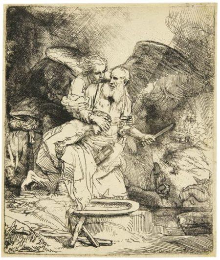 Rembrandt van Rijn-Abraham'S Sacrifice (B., Holl. 35; New Holl. 287; H. 283)-1655