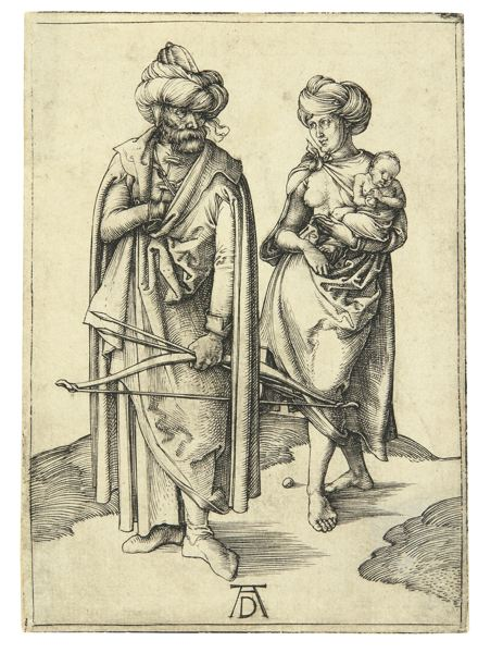 Albrecht Durer-The Turkish Family (Bartsch 85; Meder, Hollstein 80)-1496