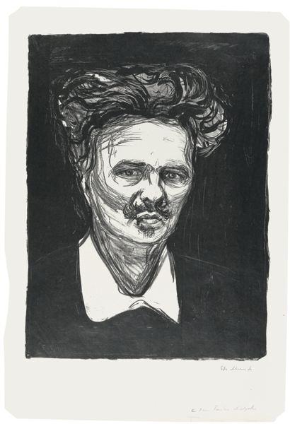 Edvard Munch-August Strindberg (Woll 66; Schiefler 77)-1896