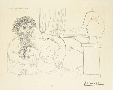 Pablo Picasso-Le Repos Du Sculpteur, I (Bloch 171; Baer 324)-1933