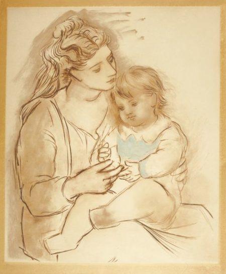 Pablo Picasso-After Pablo Picasso - Mere Et Enfant-
