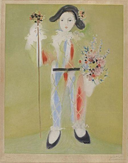 Pablo Picasso-After Pablo Picasso - Le Petit Pierrot Aux Fleurs-1960