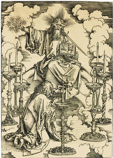 Albrecht Durer-The Vision Of The Seven Candlesticks (B. 62; M., Holl. 165)-1498