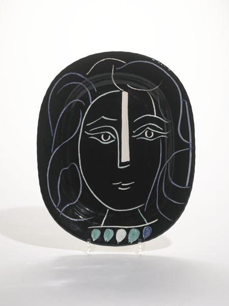 Pablo Picasso-Visage De Femme (A. R. 220)-1953