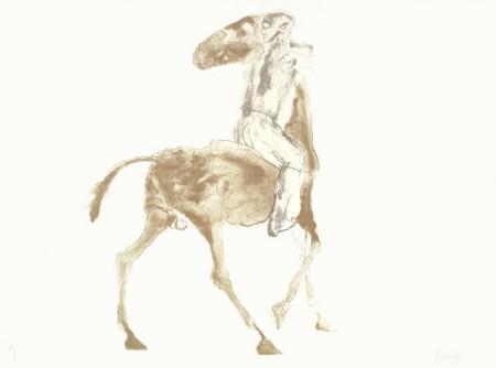 Elisabeth Frink-Horse and Rider VI-1970
