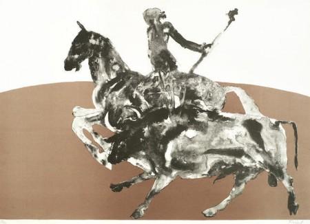 Elisabeth Frink-Rejoneadora II, from Corrida 2; Bruce McLean - Hot Slick-1989