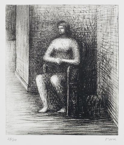 Seated Figure VI Alcove Corner-1974