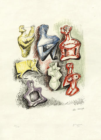 Henry Moore-Ideas for Sculpture-1966